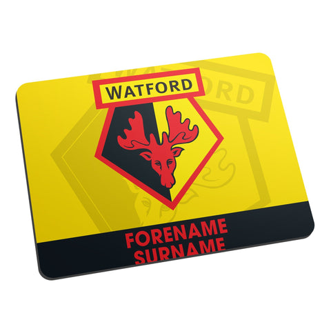 Watford FC Bold Crest Mouse Mat - Official Merchandise Gifts