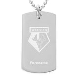 Watford FC Crest Dog Tag Pendant - Official Merchandise Gifts