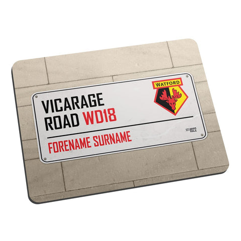 Watford FC Street Sign Mouse Mat - Official Merchandise Gifts