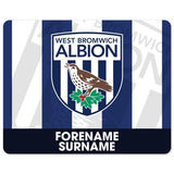 West Bromwich Albion FC Bold Crest Mouse Mat - Official Merchandise Gifts