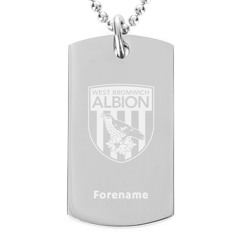 West Bromwich Albion FC Crest Dog Tag Pendant - Official Merchandise Gifts