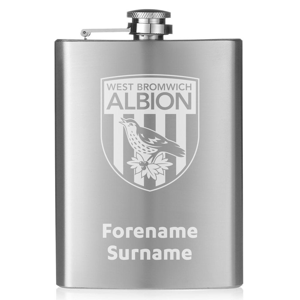 West Bromwich Albion FC Crest Hip Flask - Official Merchandise Gifts