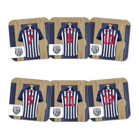 West Bromwich Albion FC Dressing Room Coasters - Official Merchandise Gifts