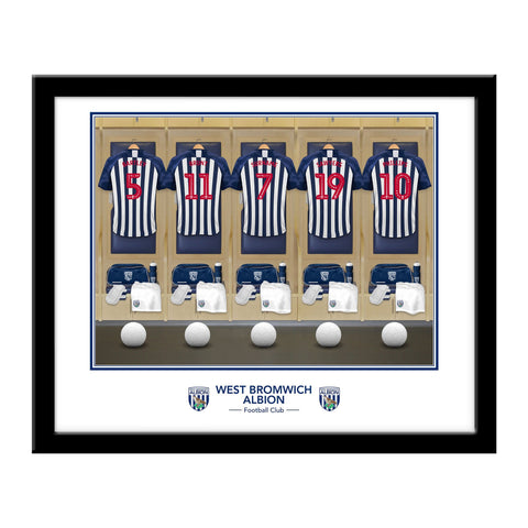 West Bromwich Albion FC Dressing Room Framed Print - Official Merchandise Gifts