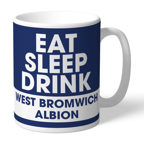 West Bromwich Albion FC Eat Sleep Drink Mug - Official Merchandise Gifts