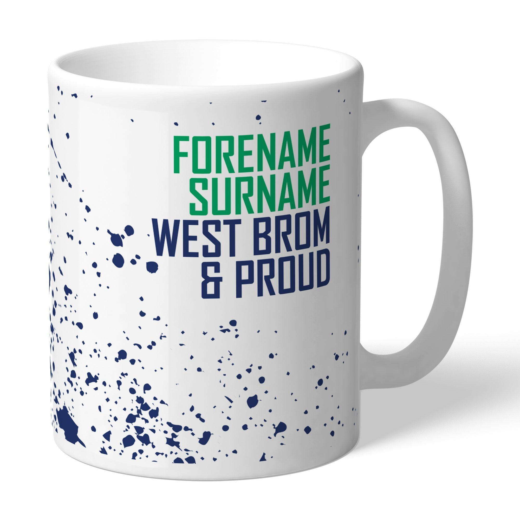Personalised West Bromwich Albion FC Proud Mug, Kitchen & Dining by Glamorous Gifts UK