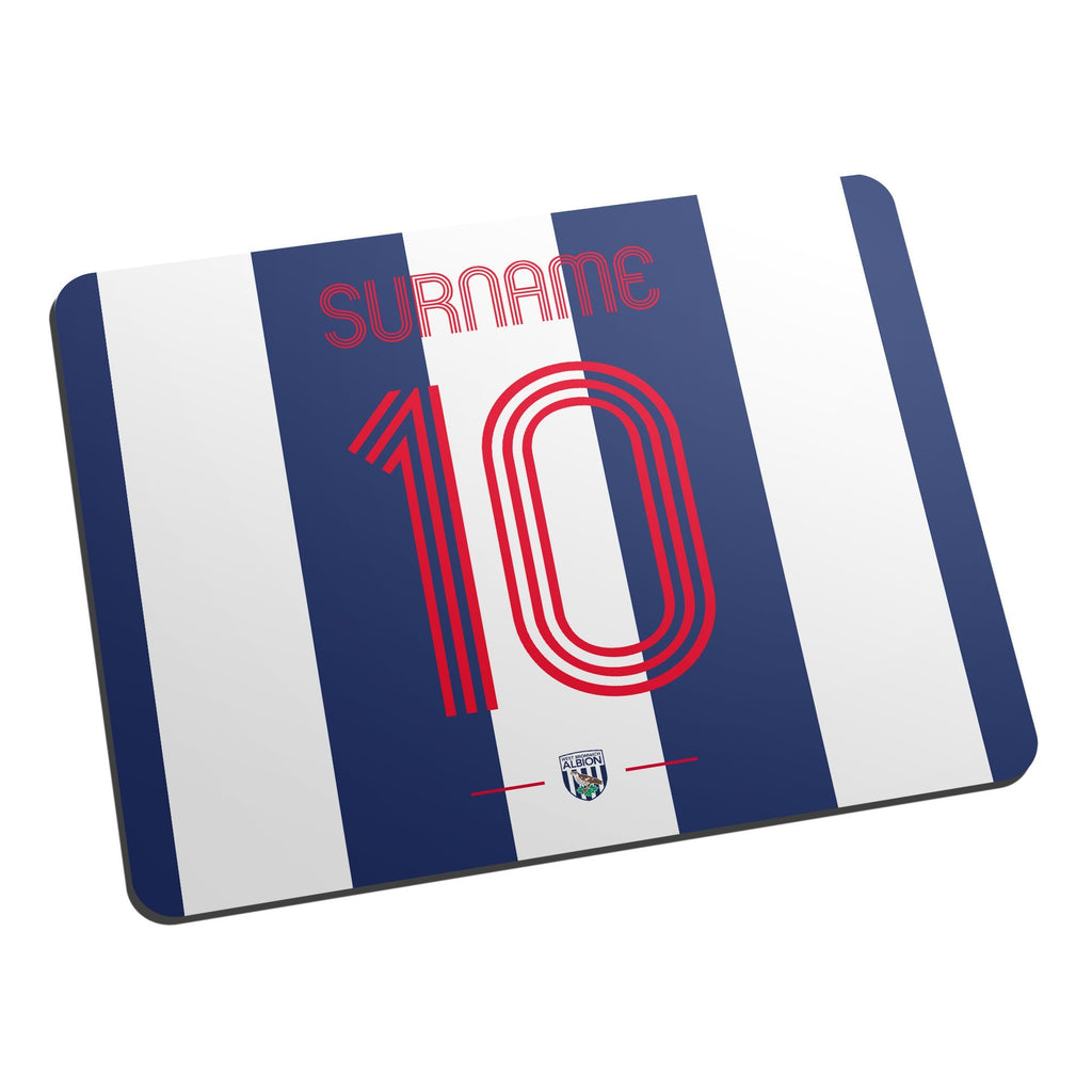 West Bromwich Albion FC Retro Shirt Mouse Mat - Official Merchandise Gifts