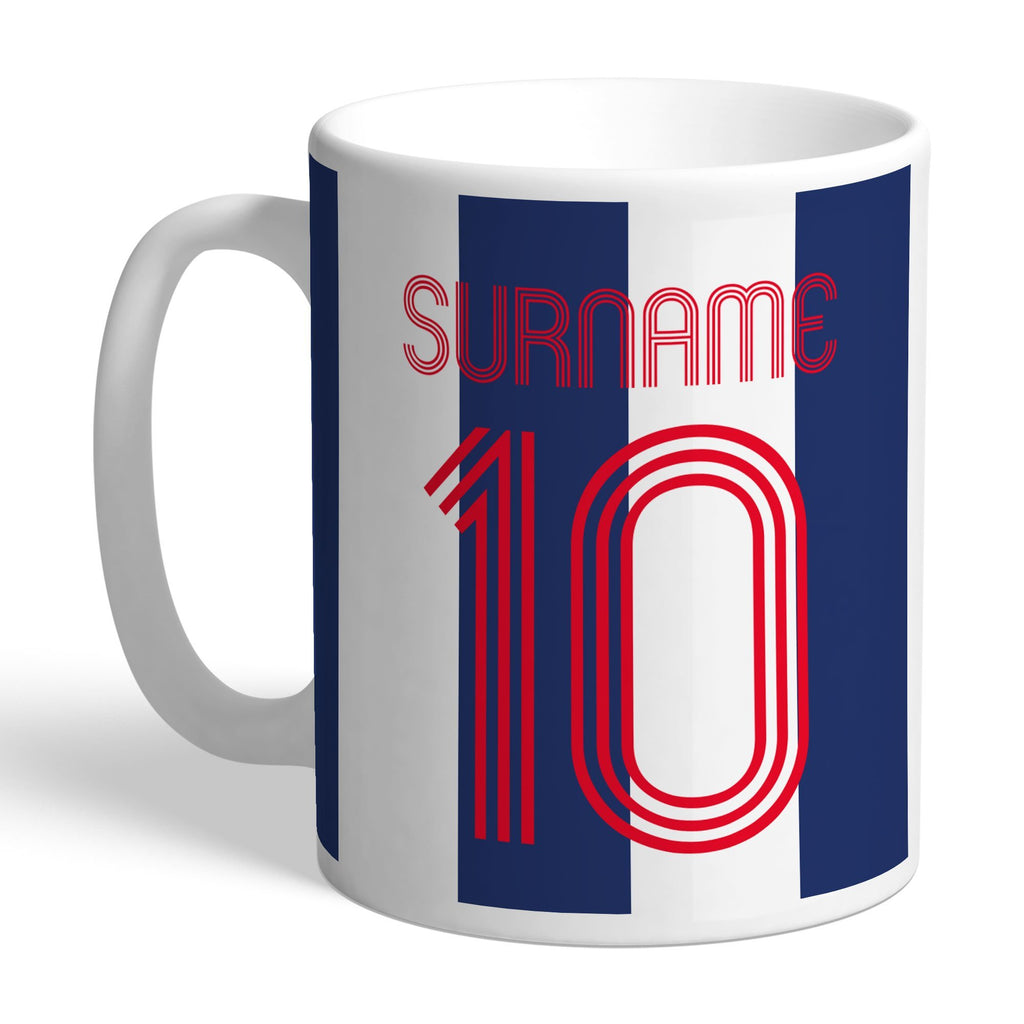West Bromwich Albion FC Retro Shirt Mug - Official Merchandise Gifts