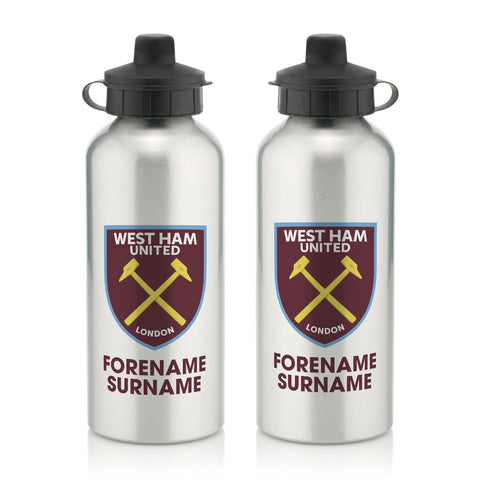 West Ham United FC Bold Crest Water Bottle - Official Merchandise Gifts