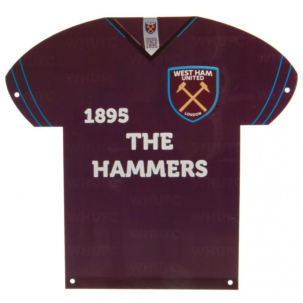 West Ham United FC Metal Shirt Sign, Collectables by Glamorous Gifts