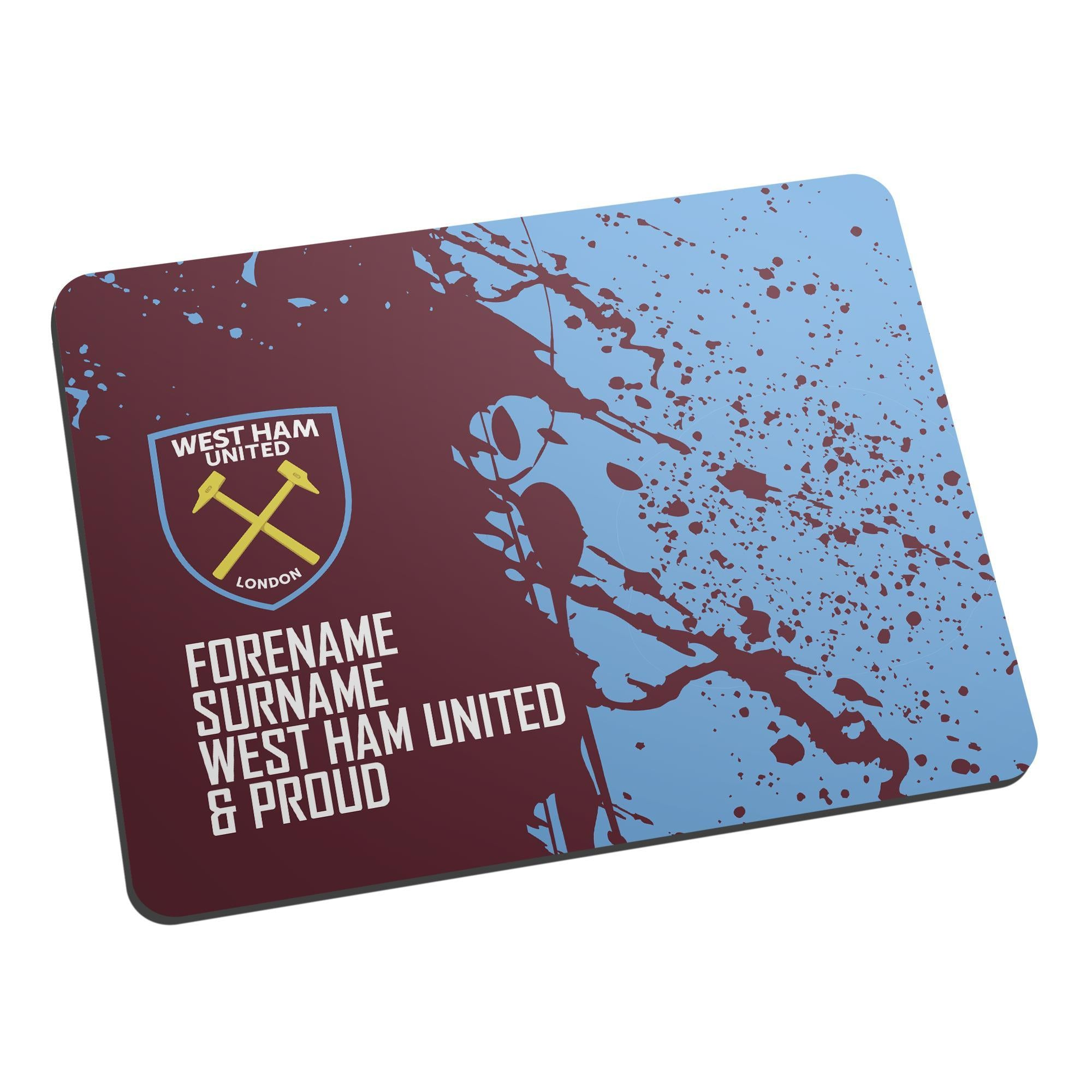 Personalised West Ham United FC Proud Mouse Mat, Electronics by Glamorous Gifts