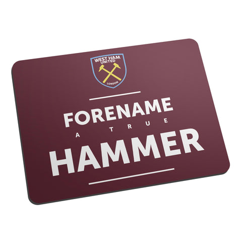 West Ham United FC True Mouse Mat - Official Merchandise Gifts