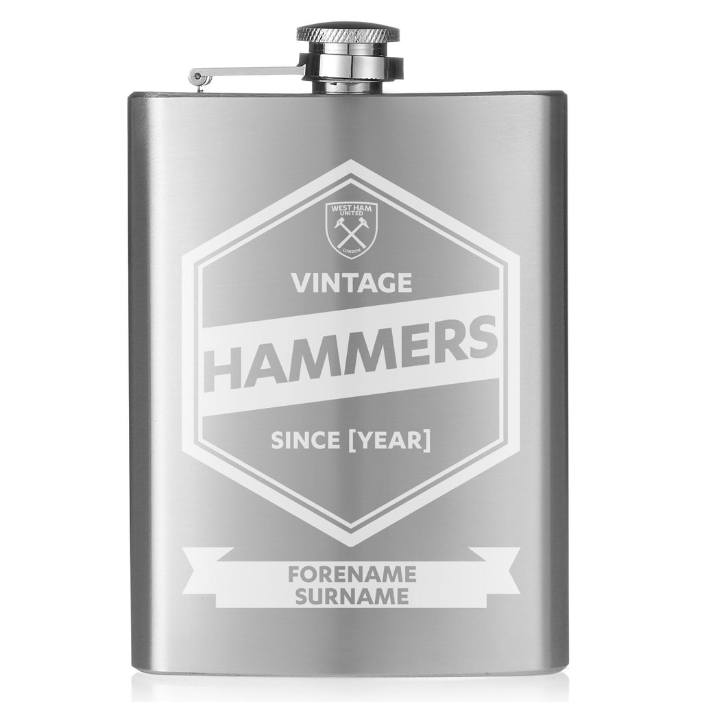 West Ham United FC Vintage Hip Flask - Official Merchandise Gifts