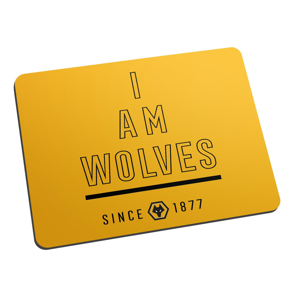 Wolverhampton Wanderers FC I Am Mouse Mat - Official Merchandise Gifts