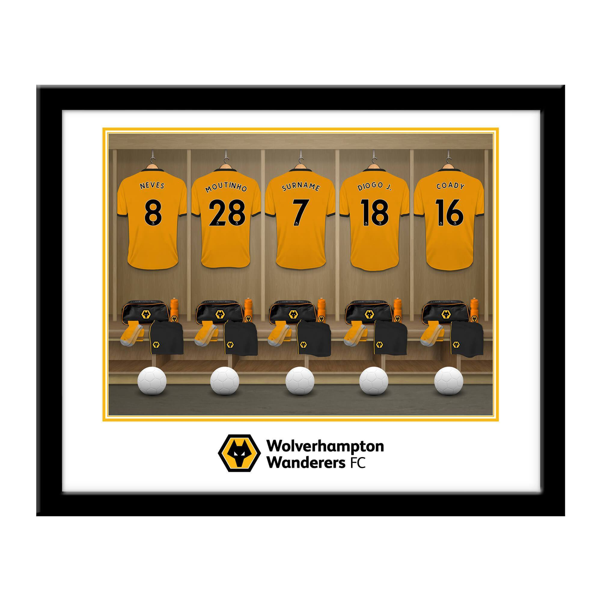 Personalised Wolves Dressing Room Framed Print, Home & Garden by Glamorous Gifts