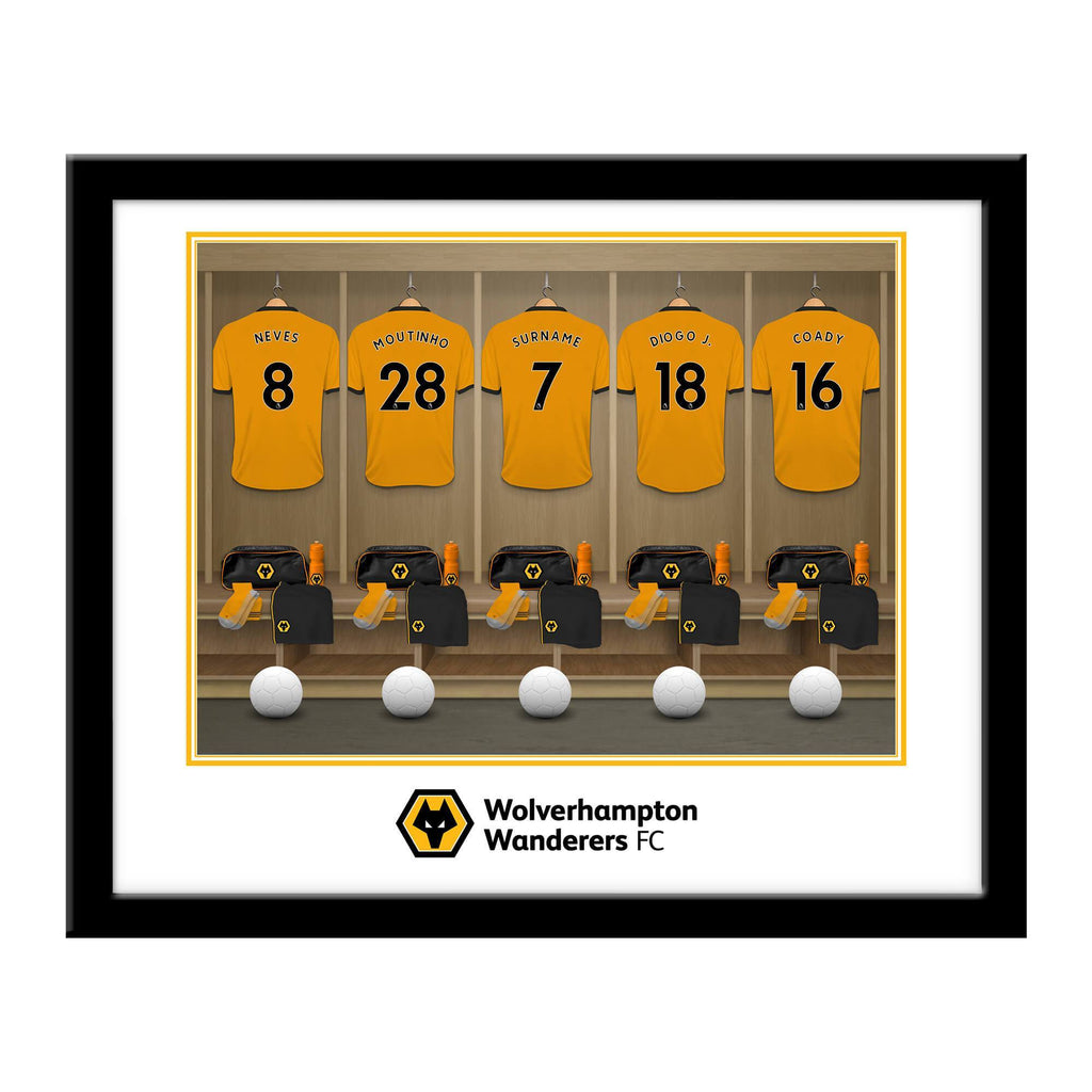 Wolves Dressing Room Framed Print - Official Merchandise Gifts