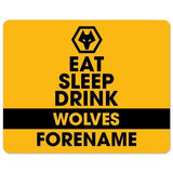 Wolves Eat Sleep Drink Mouse Mat - Official Merchandise Gifts
