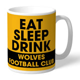 Wolves Eat Sleep Drink Mug - Official Merchandise Gifts