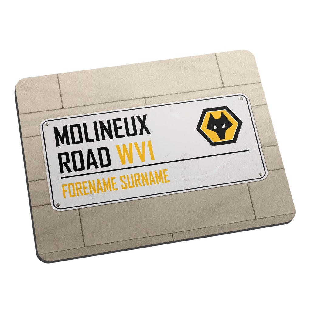 Wolves Street Sign Mouse Mat - Official Merchandise Gifts