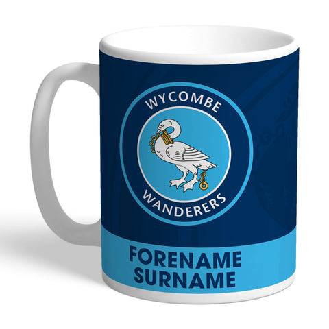 Wycombe Wanderers Bold Crest Mug - Official Merchandise Gifts