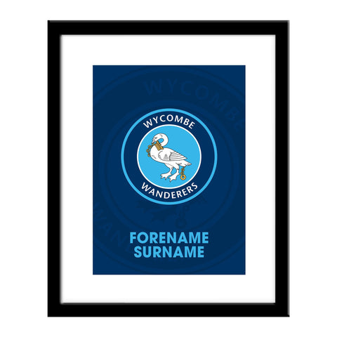 Wycombe Wanderers Bold Crest Print - Official Merchandise Gifts