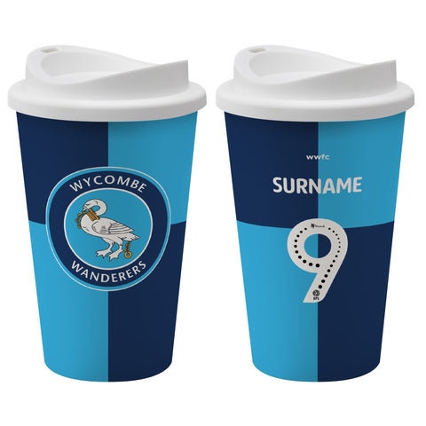 Wycombe Wanderers FC Back of Shirt Reusable Cup - Official Merchandise Gifts