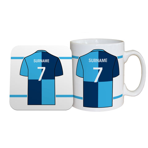 Wycombe Wanderers FC Shirt Mug & Coaster Set - Official Merchandise Gifts
