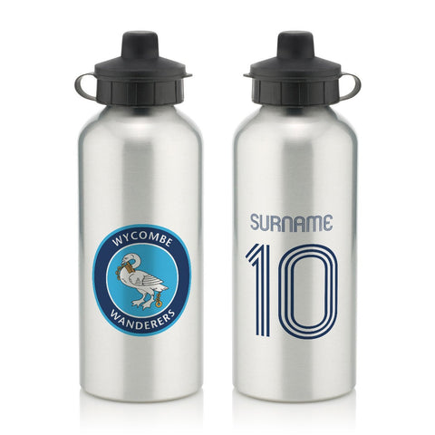 Wycombe Wanderers Retro Shirt Water Bottle - Official Merchandise Gifts