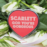 You're Gorgeous! Personalised Heart Compact Mirror - Official Merchandise Gifts