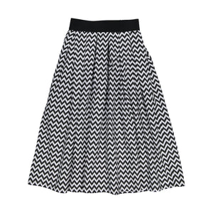 Zig Zag Cotton Skirt