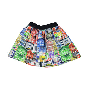 Girl Multicolored Mini Skirt