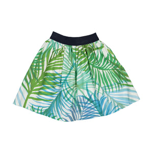 Girl Palm Beach Cotton Skirt