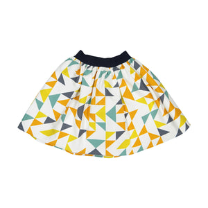Girl Triangles Cotton Skirt