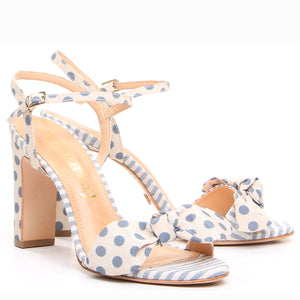 French Polka-Dot Sandals
