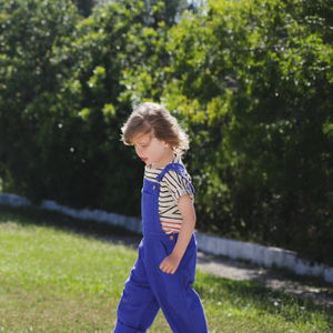 Boy & Girl Blue Trousers Dungarees