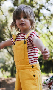 Boy & Girl Yellow Trousers Dungarees