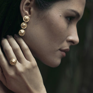 Two-In-One Gold Plated Earrings