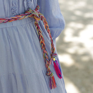 Colorful braided belt