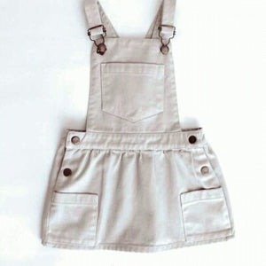 Girl Red Skirt Dungarees