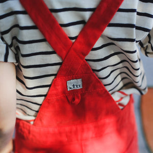 Boy & Girl Red Trousers Dungarees