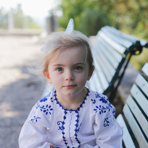 Children Embroidered Cotton Blouse