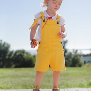 Boy & Girl Yellow Shorts Dungarees
