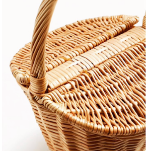 Yellow Basket Bag