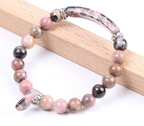 "Image of Bracelet ""Spring Love ""en Jaspe Rose"