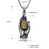 "Image of Collier ""Main de Bouddha"" - Symbole de Protection - Bouddha-Zen"