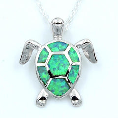 Collier Tortue Opale