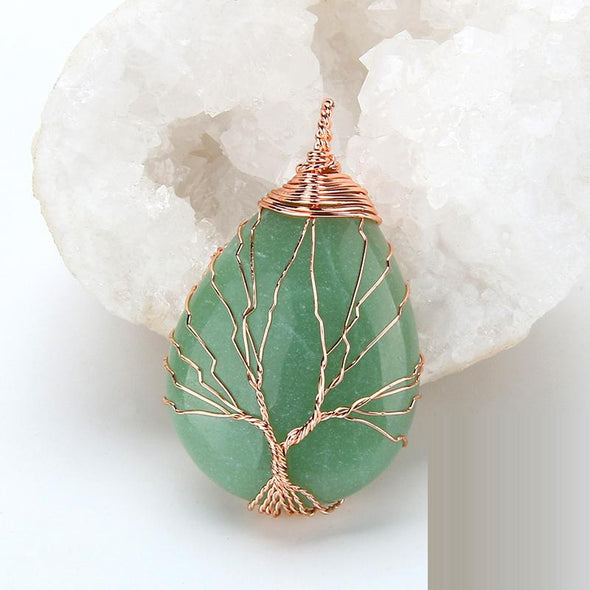 Collier Tree life en Quartz Naturel - Bouddha-Zen