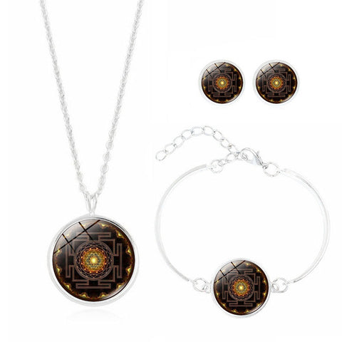 "Image of Parure "" Sri Yantra"" 3 pieces - Bouddha-Zen"