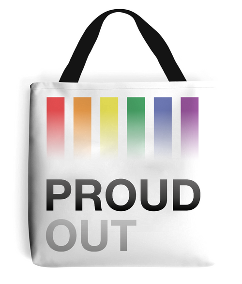 PROUDOUT White Tote Bag