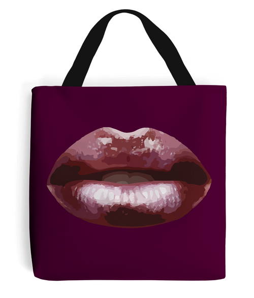 AUBERGINE LIPS Tote Bag